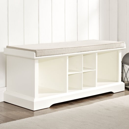 Crosley Brennan Wood Entryway Storage Bench