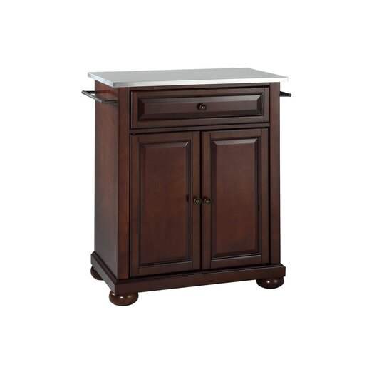 Crosley Alexandria Kitchen Island with Stainless Steel Top