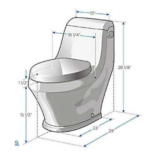 Fresca Volna Contemporary Elongated 1 Piece Toilet