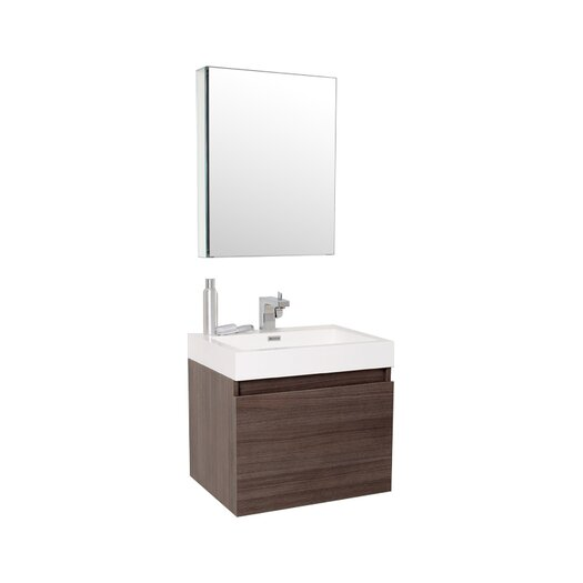 "Fresca Senza 24"" Nano Modern Bathroom Vanity Set with Single Sink"
