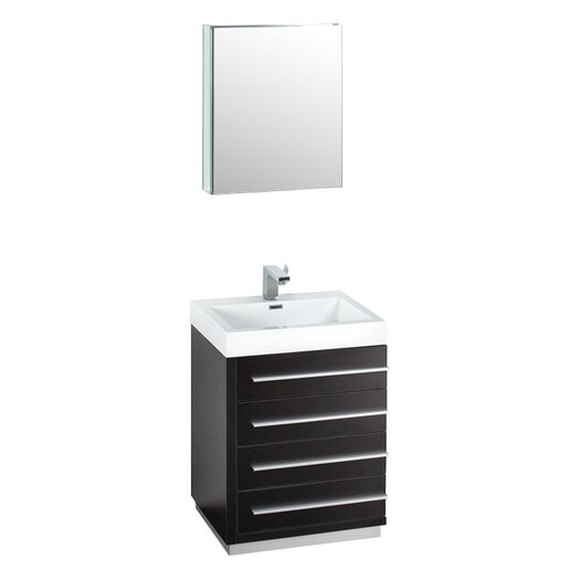 "Fresca Senza 24"" Single Livello Modern Bathroom Vanity Set"