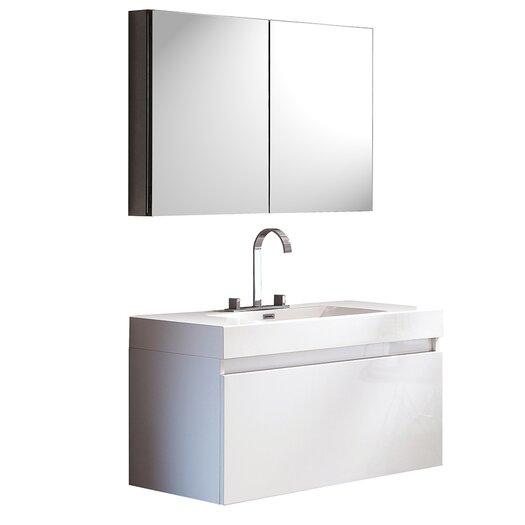 "Fresca Senza 39"" Single Mezzo Modern Bathroom Vanity Set"