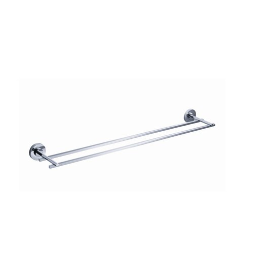 "Fresca Alzato 21.25"" Wall Mounted Double Towel Bar"
