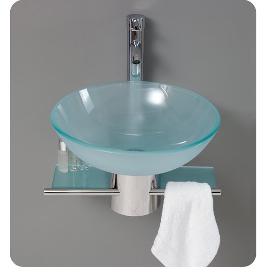 "Fresca Vetro 18"" Single Cristallino Modern Bathroom Vanity Set"