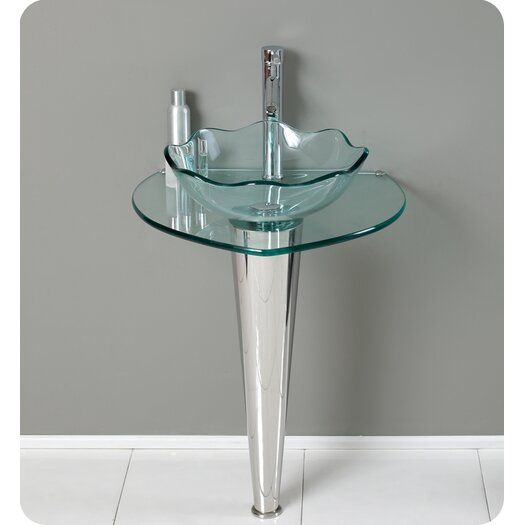 "Fresca Vetro 24"" Single Netto Modern Bathroom Vanity Set with Mirror"