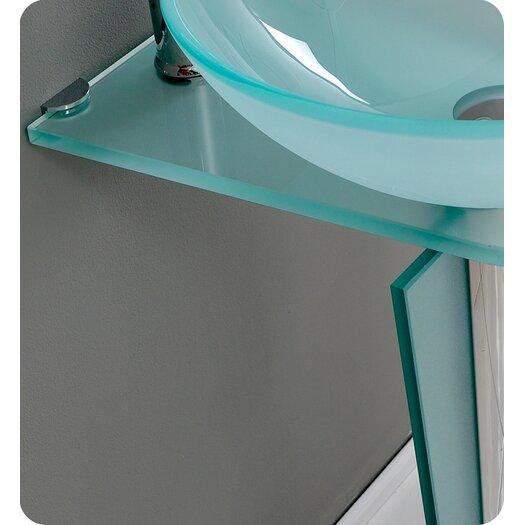 "Fresca Vetro 17"" Vitale Modern Glass Bathroom Vanity Set with Single Sink"