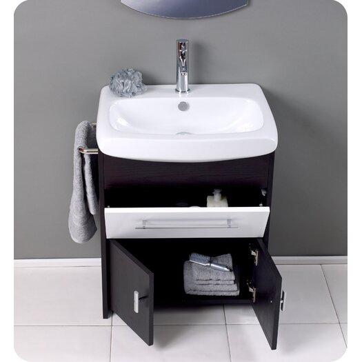 "Fresca Nero 26"" Distinto Modern Bathroom Vanity Set with Single Sink"