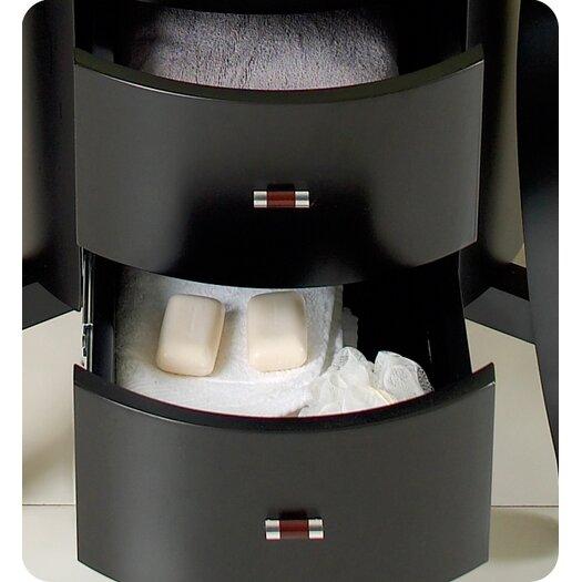 "Fresca Classico 25.5"" Simpatico Modern Bathroom Vanity Set with Mirror and Shelves"