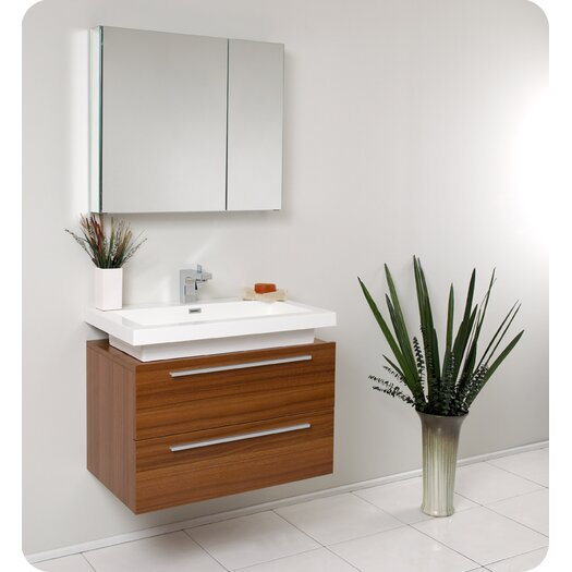 "Fresca Senza 31"" Single Medio Modern Bathroom Vanity Set"