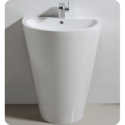 "Fresca Parma 23"" Pedestal Modern Bathroom Vanity Set with Single Sink"