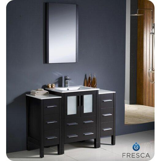 "Fresca Torino 48"" Modern Bathroom Vanity Set with Single Sink"