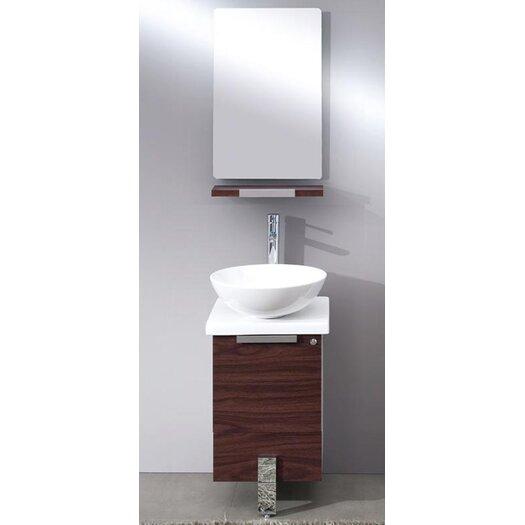 "Fresca Adour 16.5"" Modern Bathroom Vanity Set with Mirror"