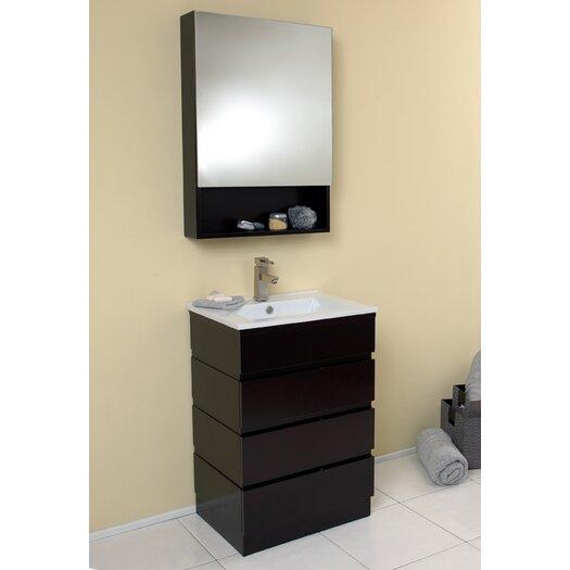 "Fresca Stella 23.75"" Amato Modern Bathroom Vanity Set with Medicine Cabinet"
