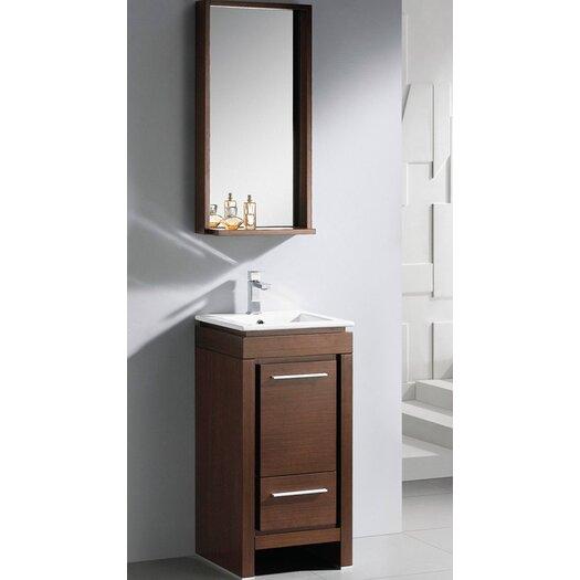 "Fresca Allier 18"" Single Small Modern Bathroom Vanity Set with Mirror"