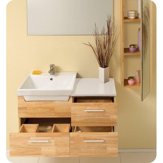 "Fresca Stella 36"" Caro Wood Modern Bathroom Vanity Set with Single Sink"