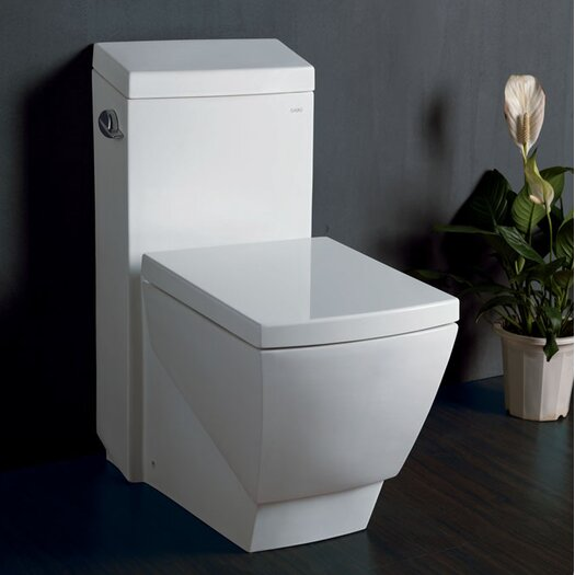 Fresca Apus Square 1.6 GPF Elongated 1 Piece Toilet with Soft Close Seat