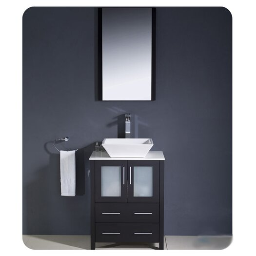"Fresca Torino 24"" Single Modern Bathroom Vanity Set with Mirror"