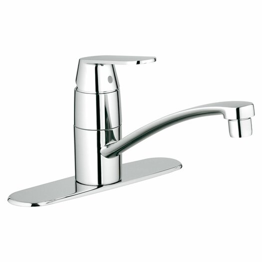 Grohe Eurosmart Cosmopolitan Single Handle Single Hole Swivel Kitchen Faucet with Spout with Watercare
