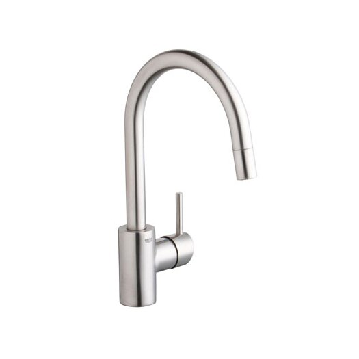 Grohe Concetto Single Handle Single Hole Kitchen Faucet with Dual Spray Pull Down