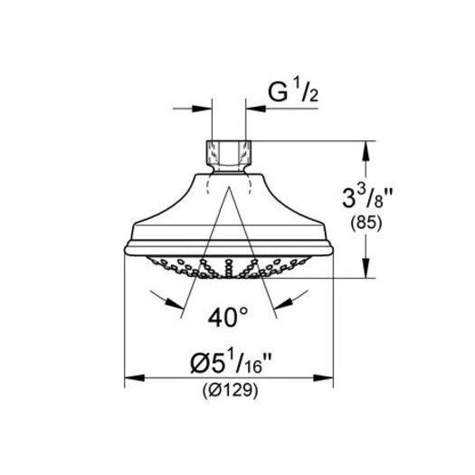 Grohe Euphoria Rustic Shower Head 2.5 GPM
