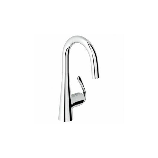 Grohe Ladylux3 Single Handle Single Hole Bar Faucet with Dual Spray Pull Down