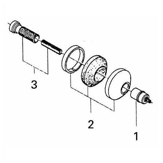 Grohe Escutcheon with Hold Down Volume Control