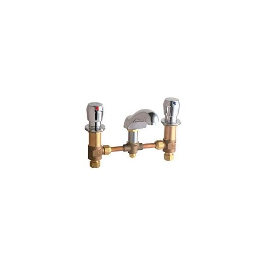 Chicago Faucets Widespread Bathroom Sink Faucet with Double Pump Handles