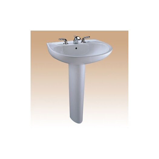 Toto Supreme Pedestal Bathroom Sink Set with SanaGloss Glazing