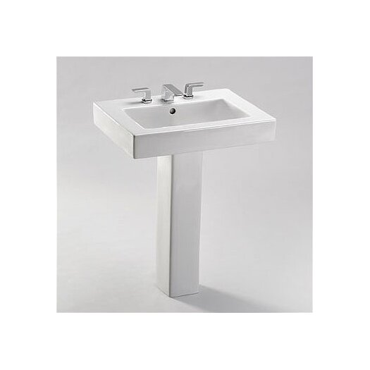 Toto Pedestal Bathroom Sink Set with SanaGloss Glazing