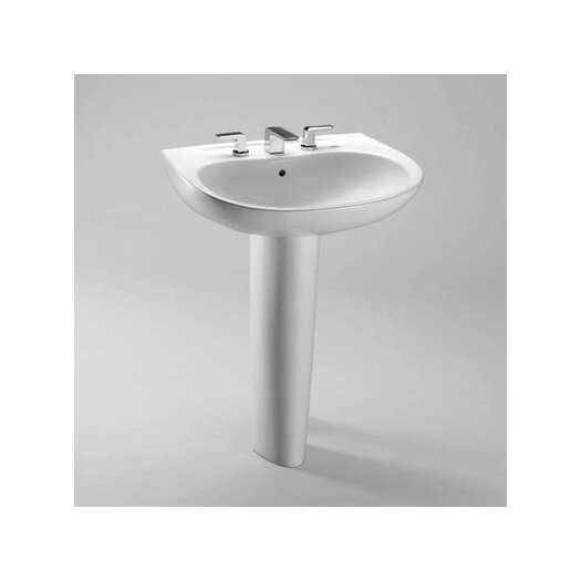 Toto Prominence Pedestal Bathroom Sink with Sanagloss