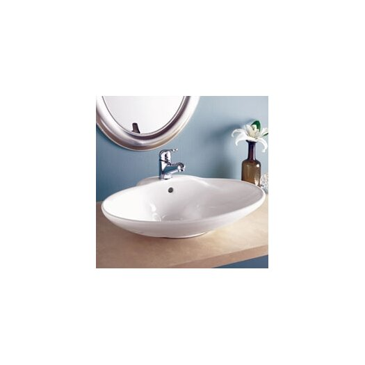 DecoLav Classically Redefined Oval Ceramic Vessel Sink with Overflow