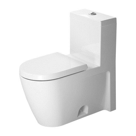 Duravit Starck 2 1.28 GPF Elongated 1 Piece Toilet