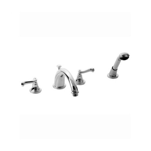 Jado Wynd 816 Double Handle Volume Control Roman Tub Faucet with Hand Shower