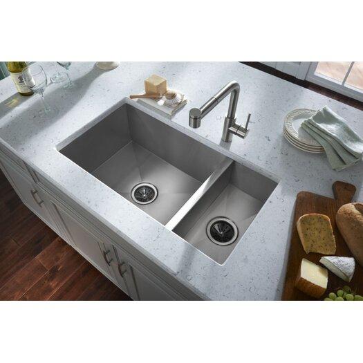 "Elkay Avado 32.25"" x 18.25"" Double Bowl Kitchen Sink"