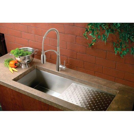 "Elkay Avado 43.5"" x 18.25"" Single Bowl Kitchen Sink with Work Area"