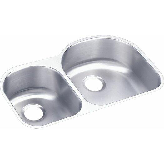"Elkay Lustertone 31.25"" x 20"" Double Bowl Kitchen Sink"