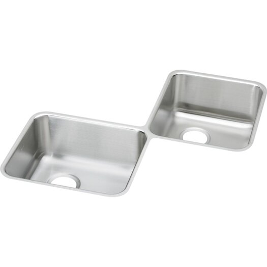 "Elkay Lustertone 32"" x 32"" Undermount Double Bowl Corner Kitchen Sink"