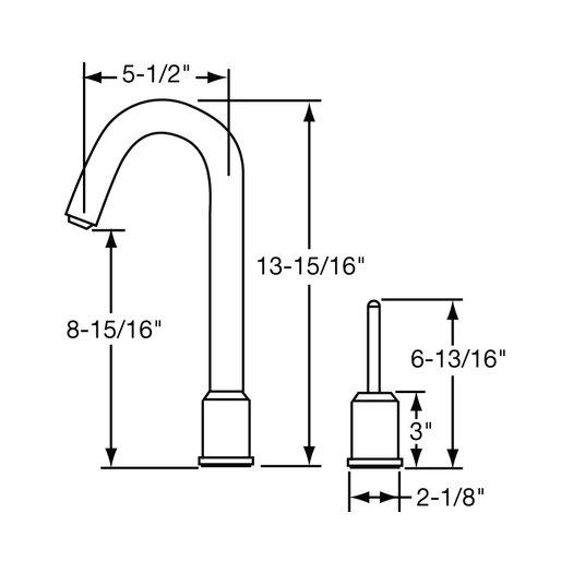 Elkay Ella Single Handle Widespread Kitchen Sink Faucet