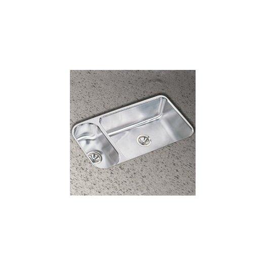 "Elkay 32.25"" x 18.25"" Double Bowl Undermount Kitchen Sink"