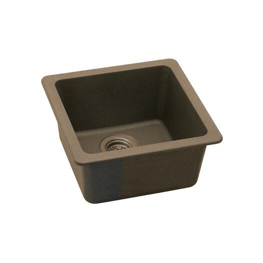 "Elkay Gourmet 15.75"" x 15.75"" E-Granite Universal Mount Single Bowl Kitchen Sink"