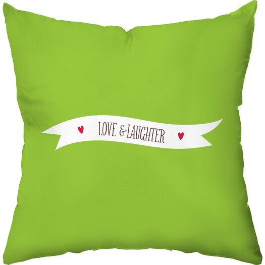 Checkerboard, Ltd Joyful Heart Throw Pillow