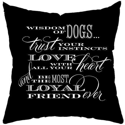 Checkerboard, Ltd Dog Wisdom Polyester Throw Pillow