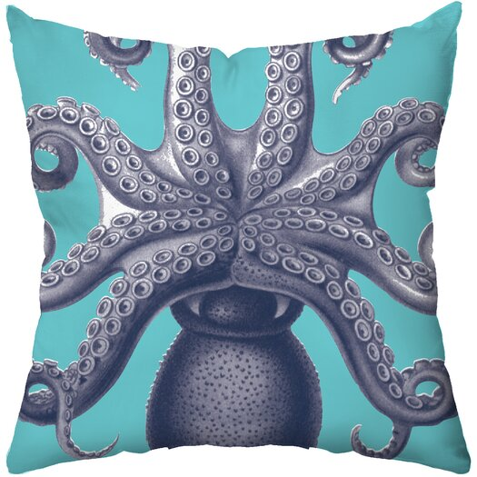 Checkerboard, Ltd Octopus Poly Cotton Throw Pillow