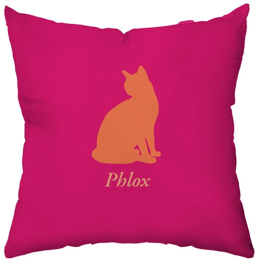 Checkerboard, Ltd Personalized Cat's Pajamas Polyester Throw Pillow