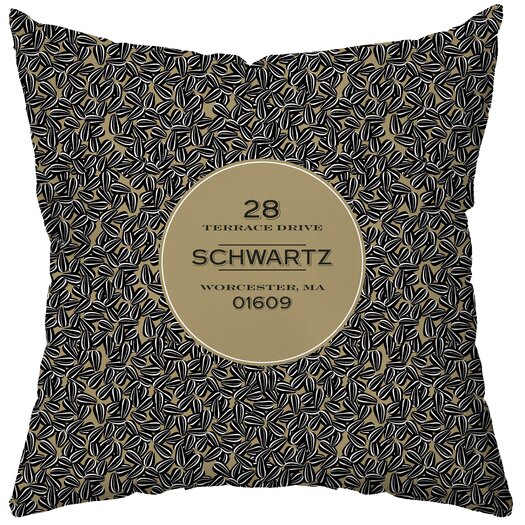 Checkerboard, Ltd Personalized Sunflower Seeds Poly Cotton Throw Pillow