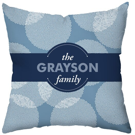 Checkerboard, Ltd Personalized Make a Wish! Poly Cotton Throw Pillow
