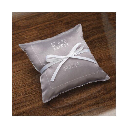 Checkerboard, Ltd Personalized Composed Satin Ring Pillow