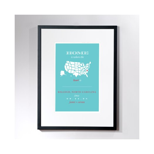 Checkerboard, Ltd Personalized Raleigh Home Framed Graphic Art