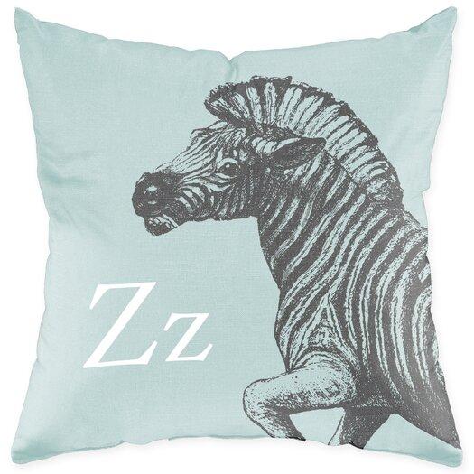 Checkerboard, Ltd Zebra Poly Cotton Throw Pillow