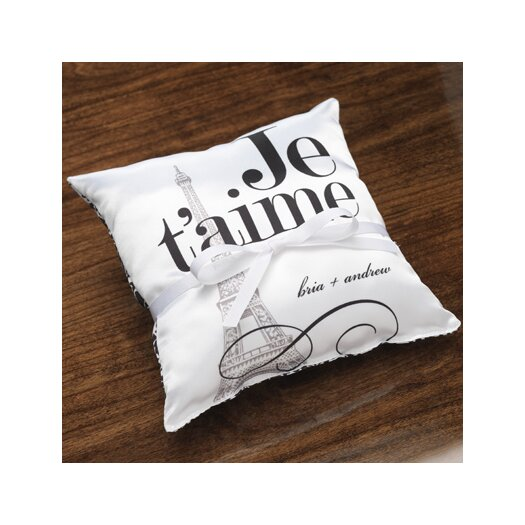 Checkerboard, Ltd Personalized Vignette Ring Pillow
